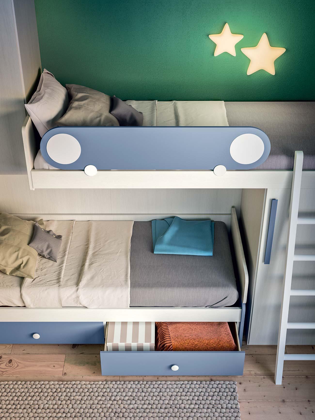 Letto A Castello Con Contenitore.Camerette Con Letti A Castello E Trasformabili Mab Home Furniture
