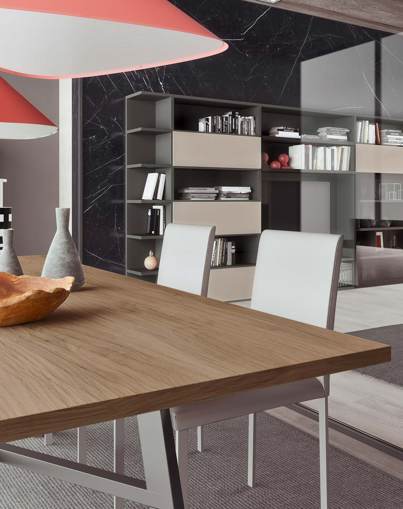 dining table with white rope anthracite grey mild or bosco finish