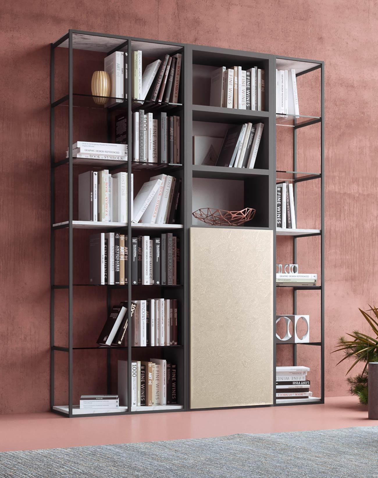 Libreria A Parete Prezzi.Babel Libreria Componibile A Parete Dal Design Moderno Mab