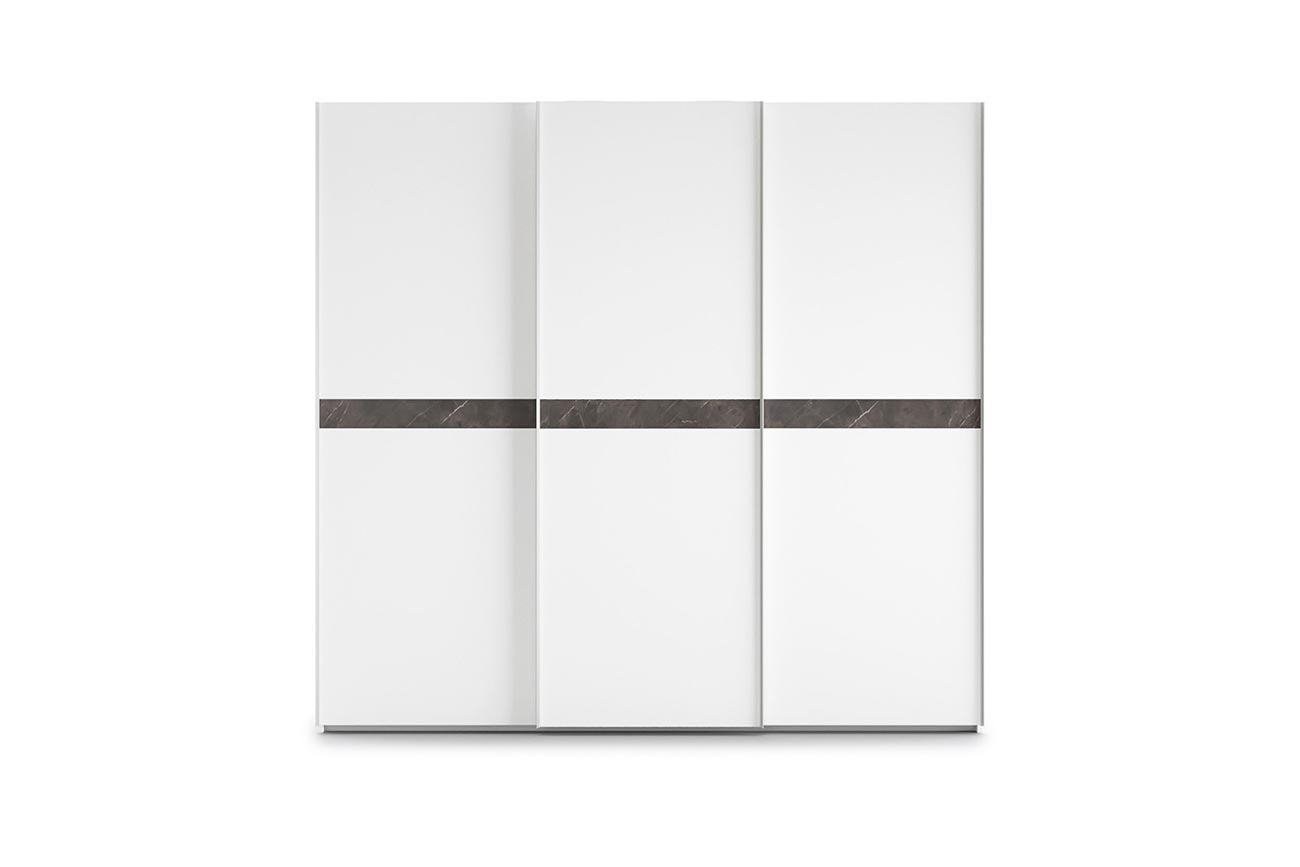 sliding-door wardrobe with contrasting insert finish