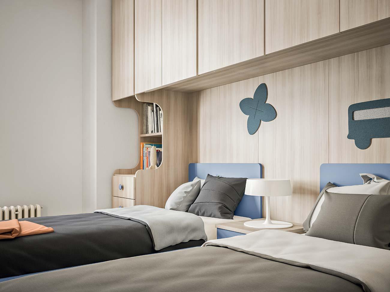 Cameretta Con Divano Letto.Camerette Con Letti A Ponte Mab Home Furniture