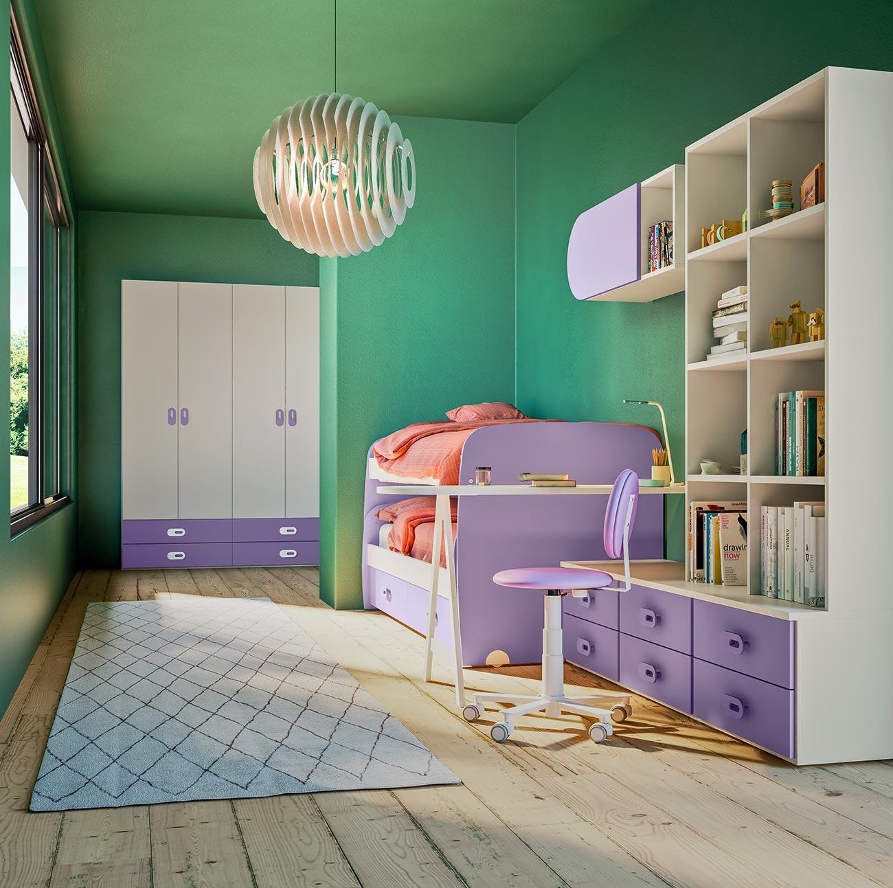 Letti A Castello Bassi.Camerette Con Letti A Castello E Trasformabili Mab Home Furniture