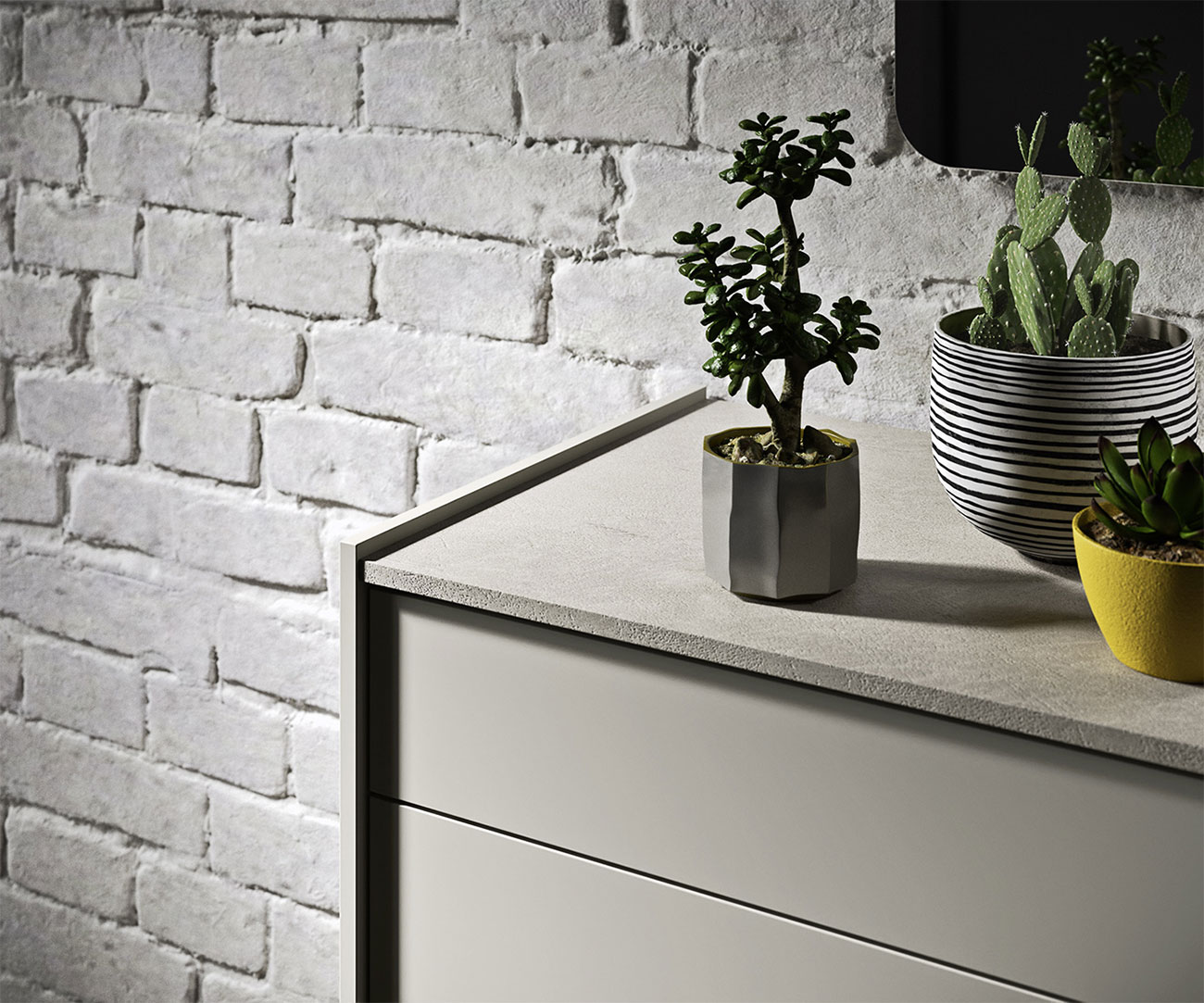 drawer units and chests with a contemporary finish