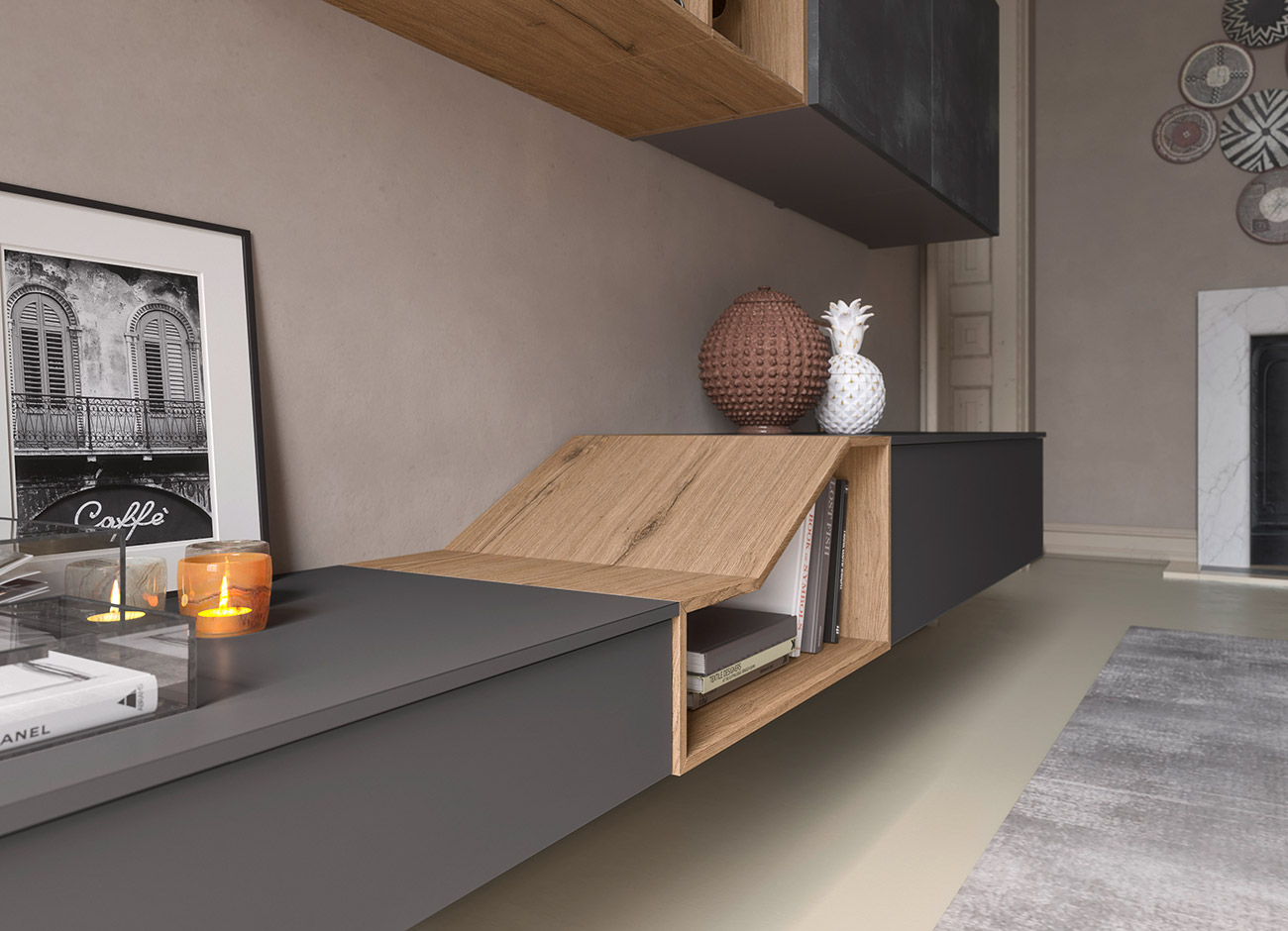 storage wall base units for your contemporary style living room