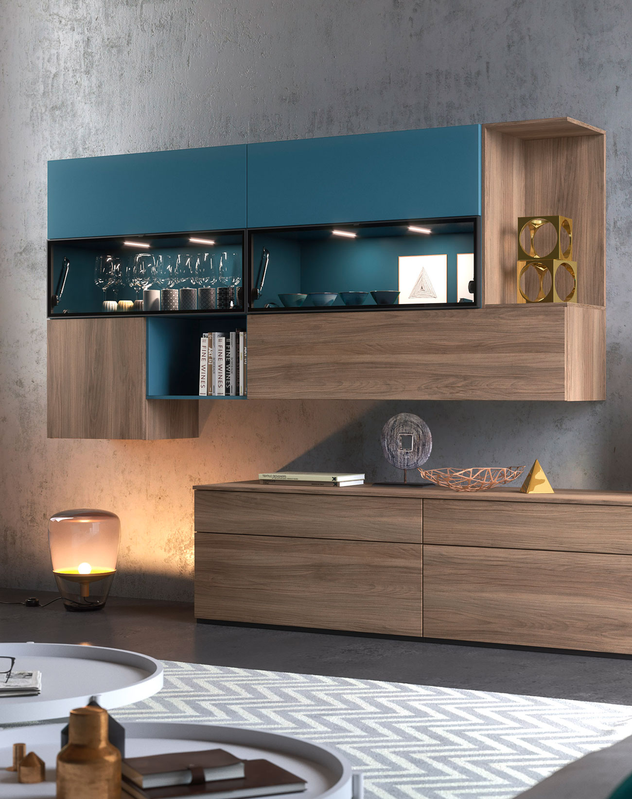 storage wall shelves for your contemporary style living room