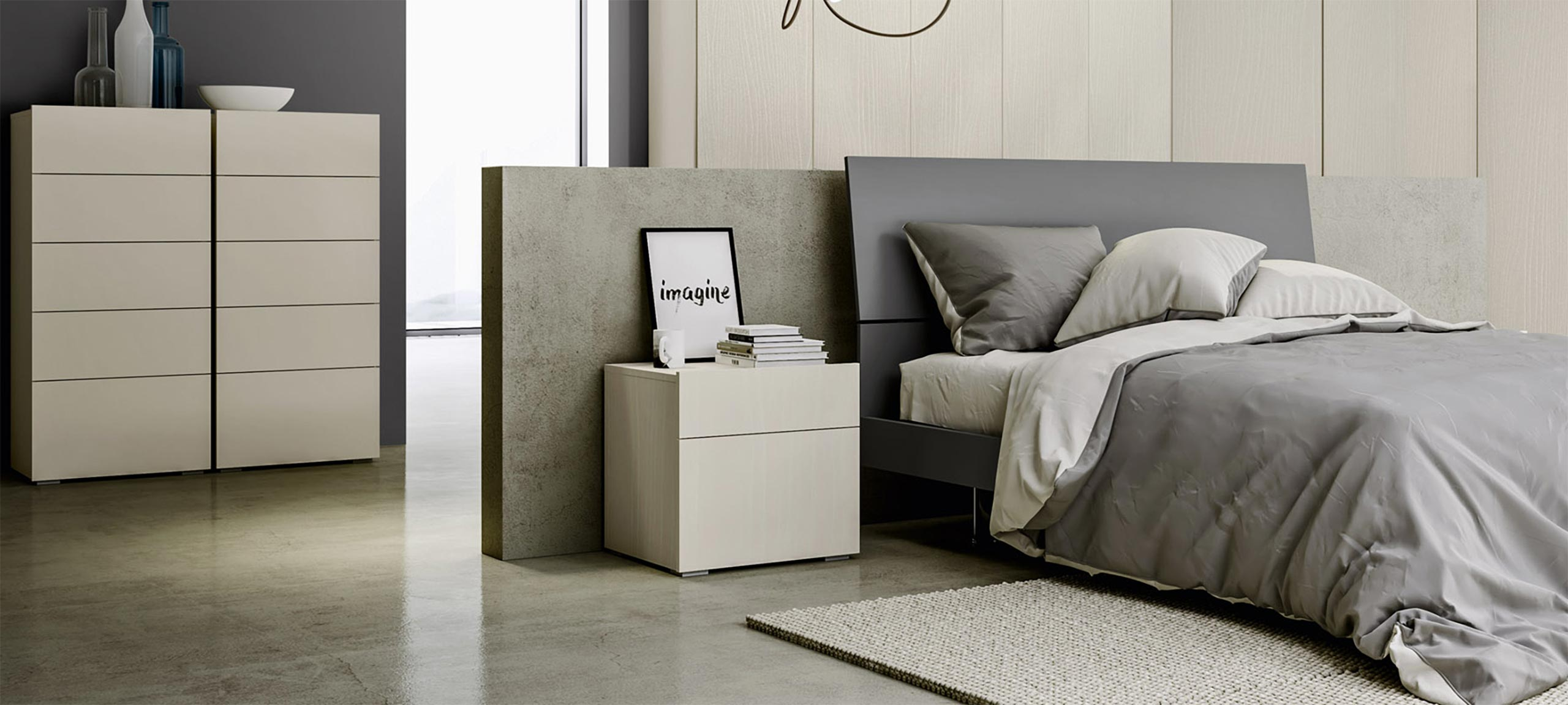 contemporary-style cube bedsides, drawer units and chests 1