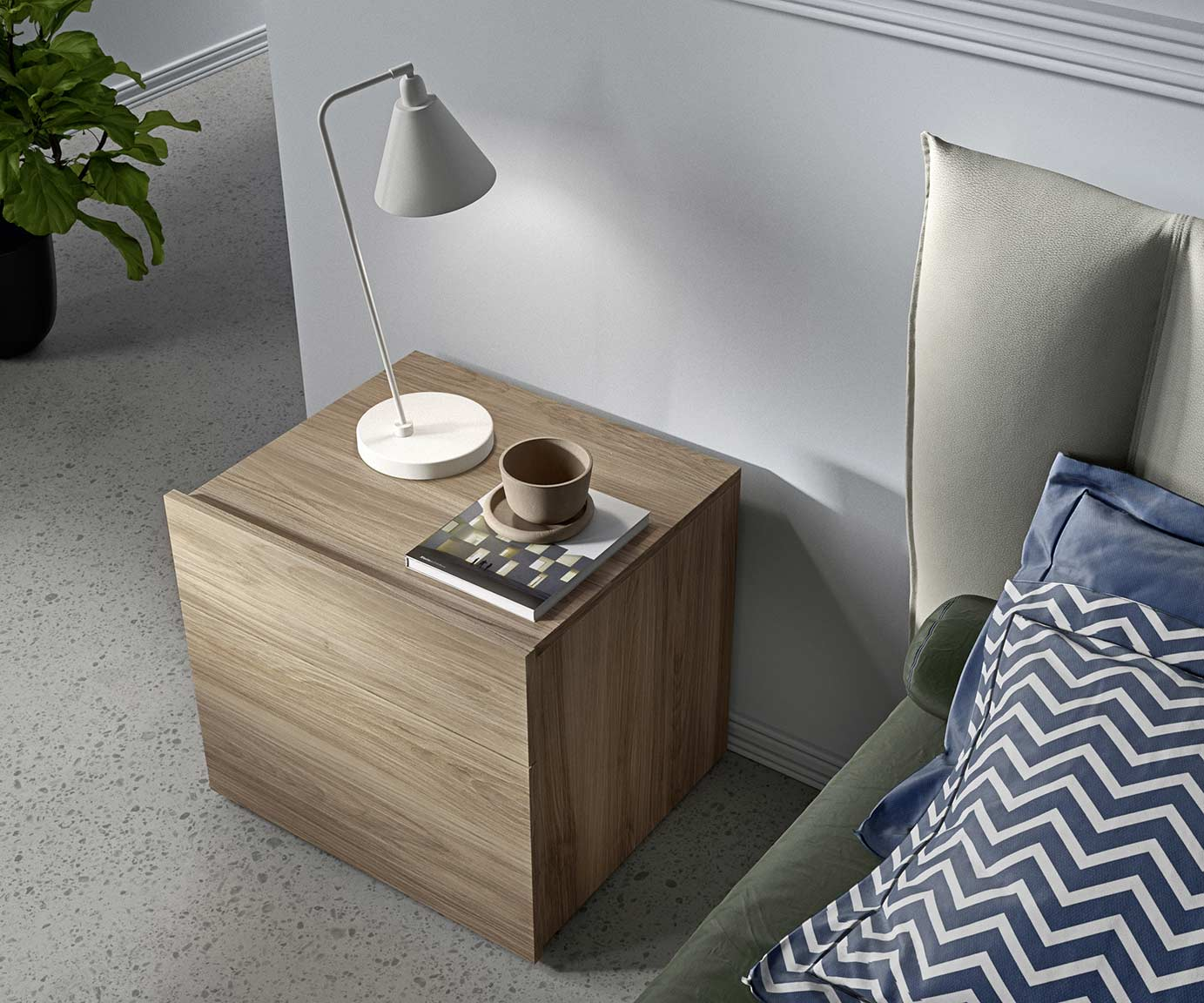 contemporary-style cube bedsides, drawer units and chests 4