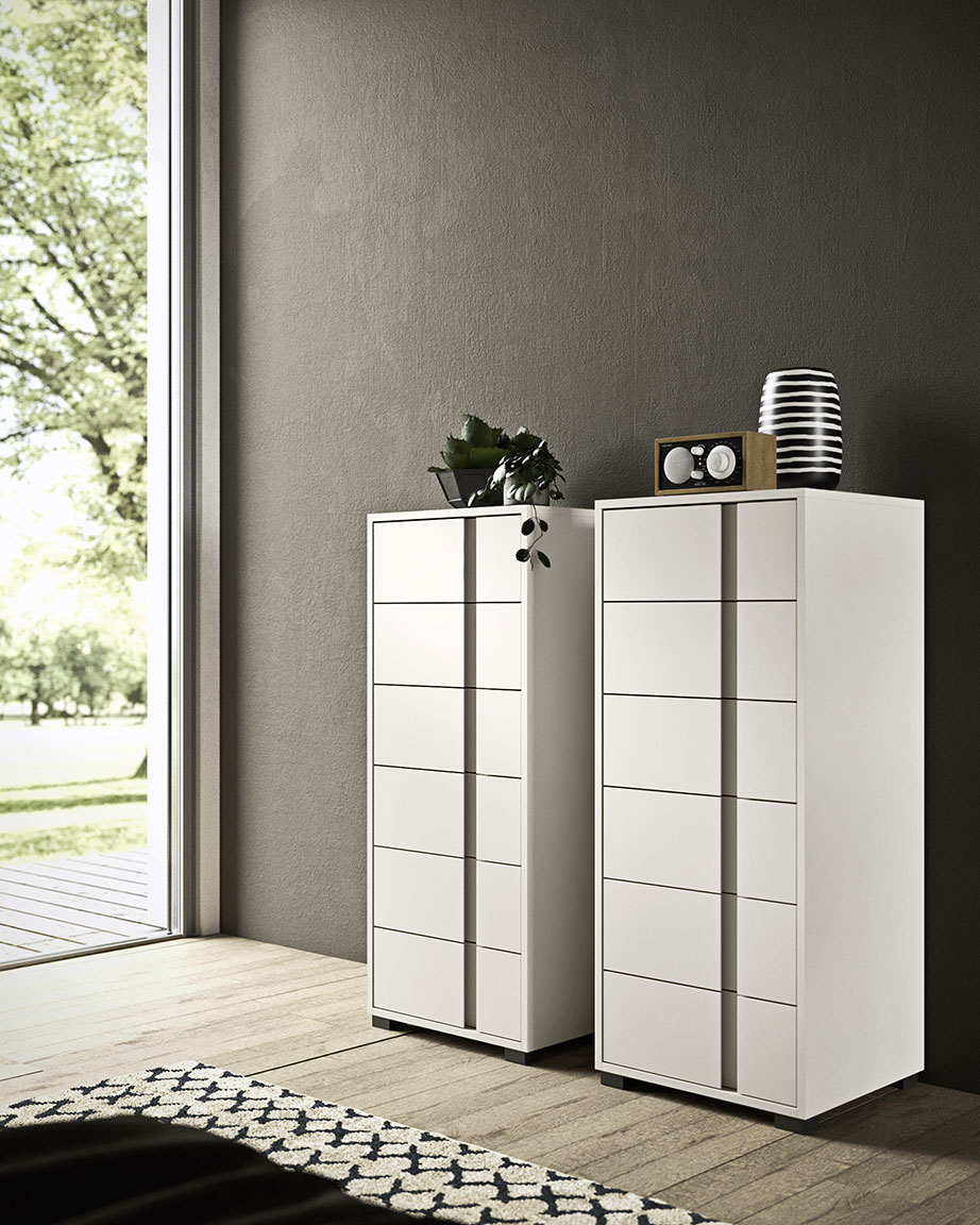 Contemporary style glide bedsides, drawer units and chests 1