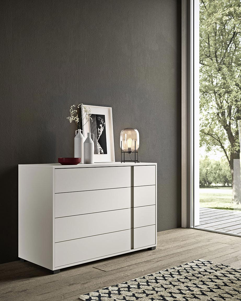 Contemporary style glide bedsides, drawer units and chests 3