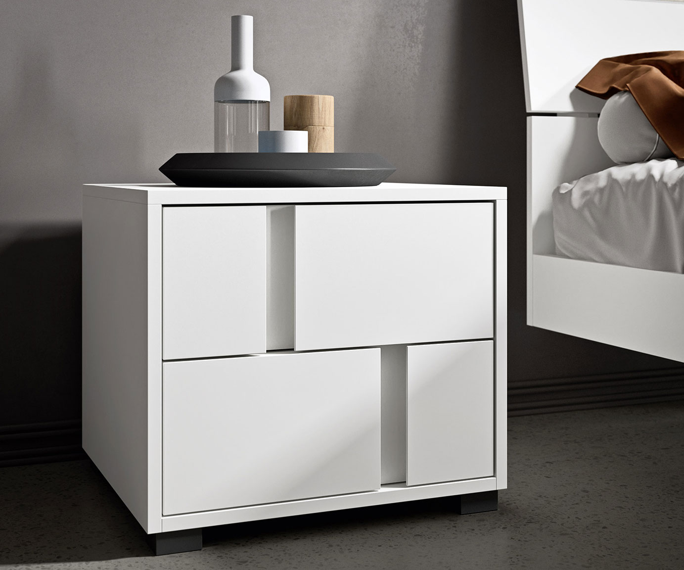Contemporary style glide bedsides, drawer units and chests 4