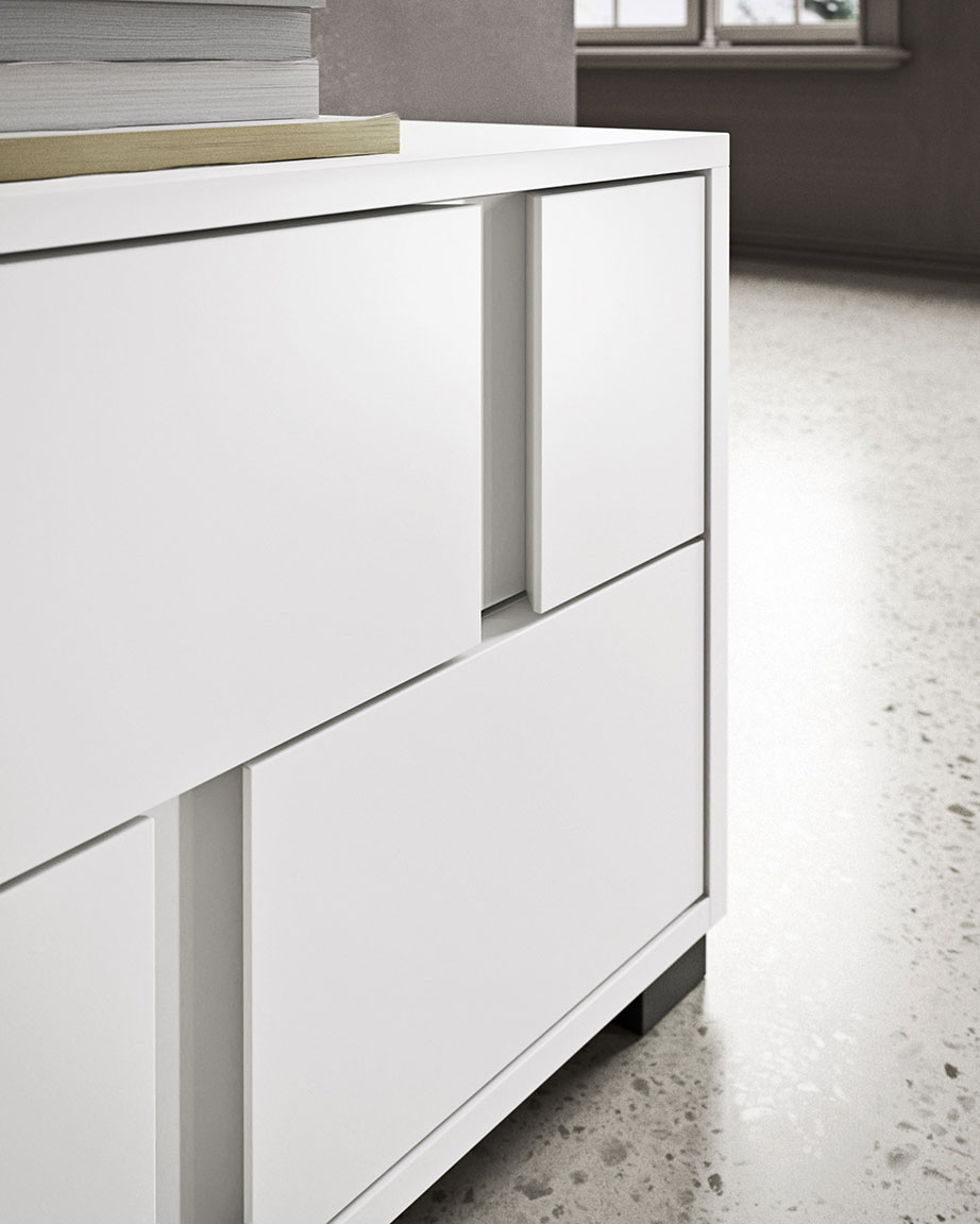 Contemporary style glide bedsides, drawer units and chests 5