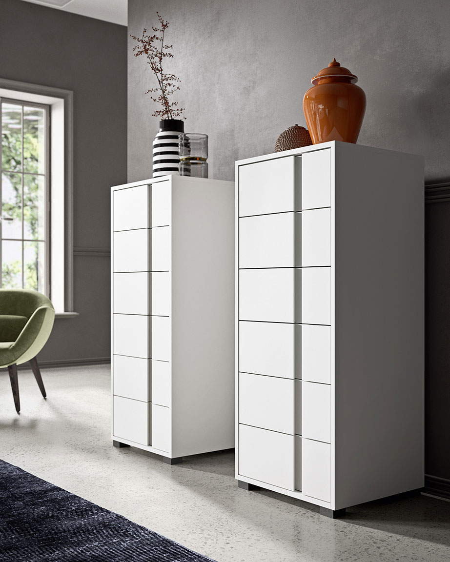 Contemporary style glide bedsides, drawer units and chests 6