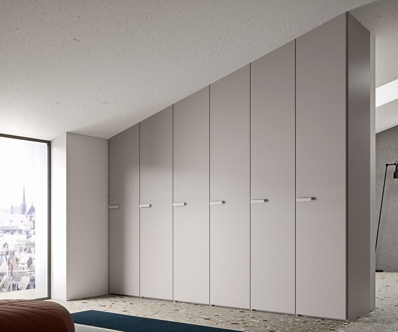 Armadio A Muro Moderno.Anta Liscia Armadio Ante Battenti Dal Design Moderno Mab Home