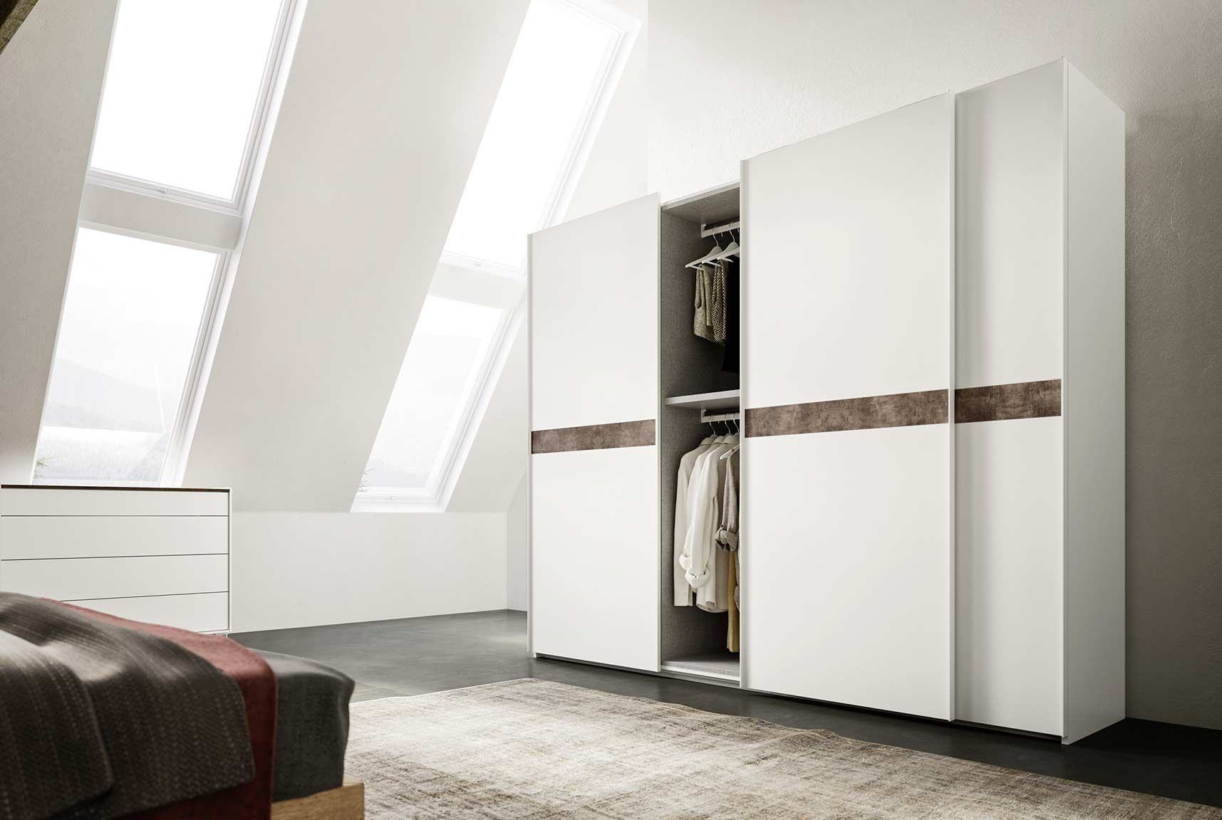 contemporary style sliding-door doppia wardrobe 4