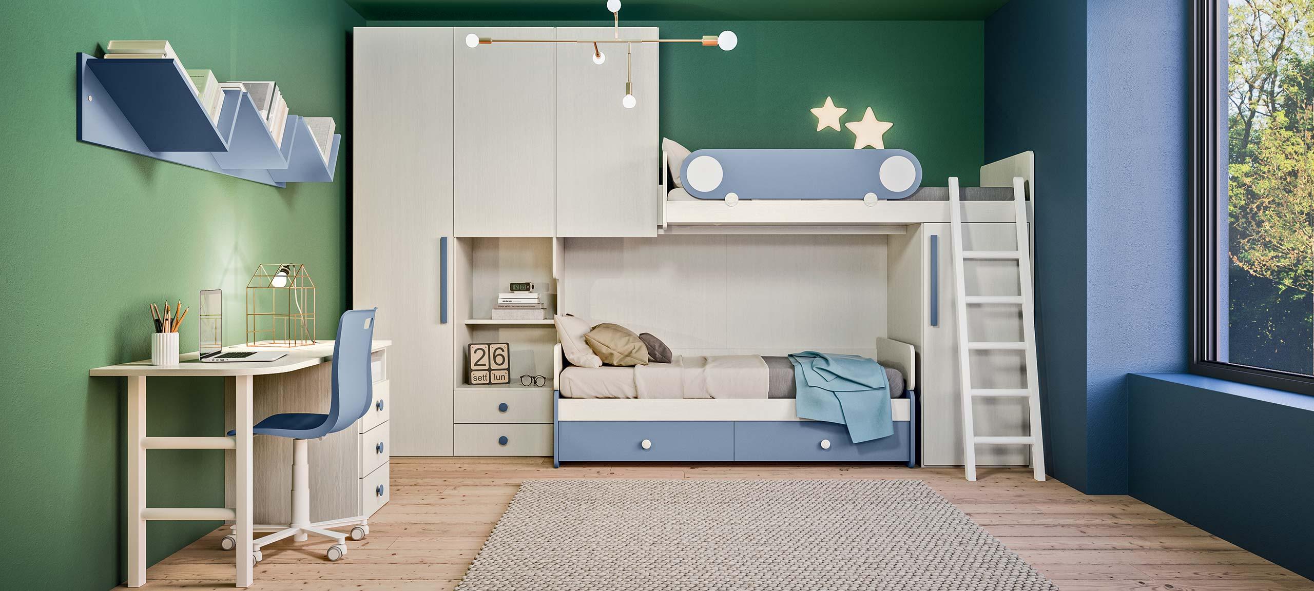I Letti A Castello.Camerette Con Letti A Castello E Trasformabili Mab Home Furniture