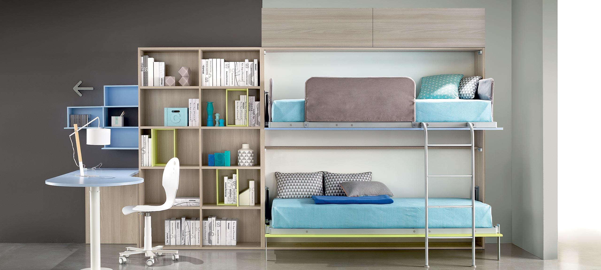 Letto A Scomparsa A Castello.Camerette Con Letti A Castello E Trasformabili Mab Home Furniture