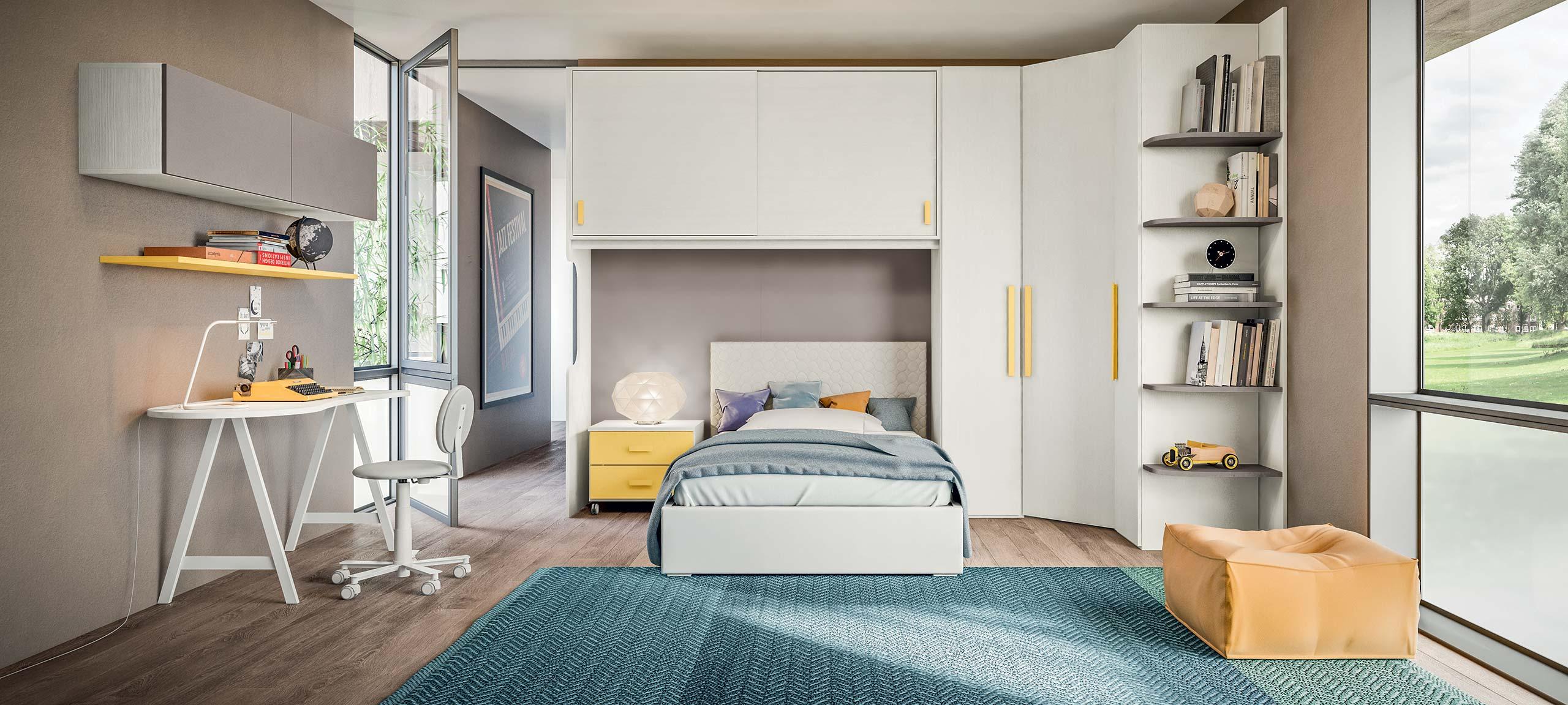 Camera A Ponte Con Divano Letto.Camerette Con Letti A Ponte Mab Home Furniture