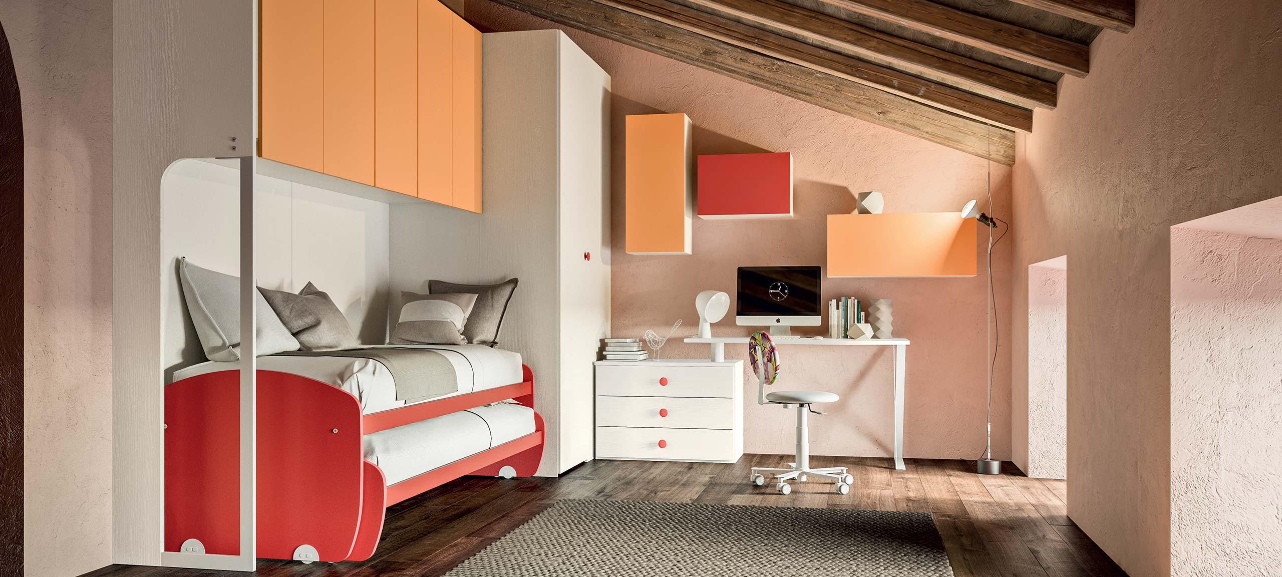 Camerette A Ponte Con 3 Letti.Camerette Con Letti A Ponte Mab Home Furniture