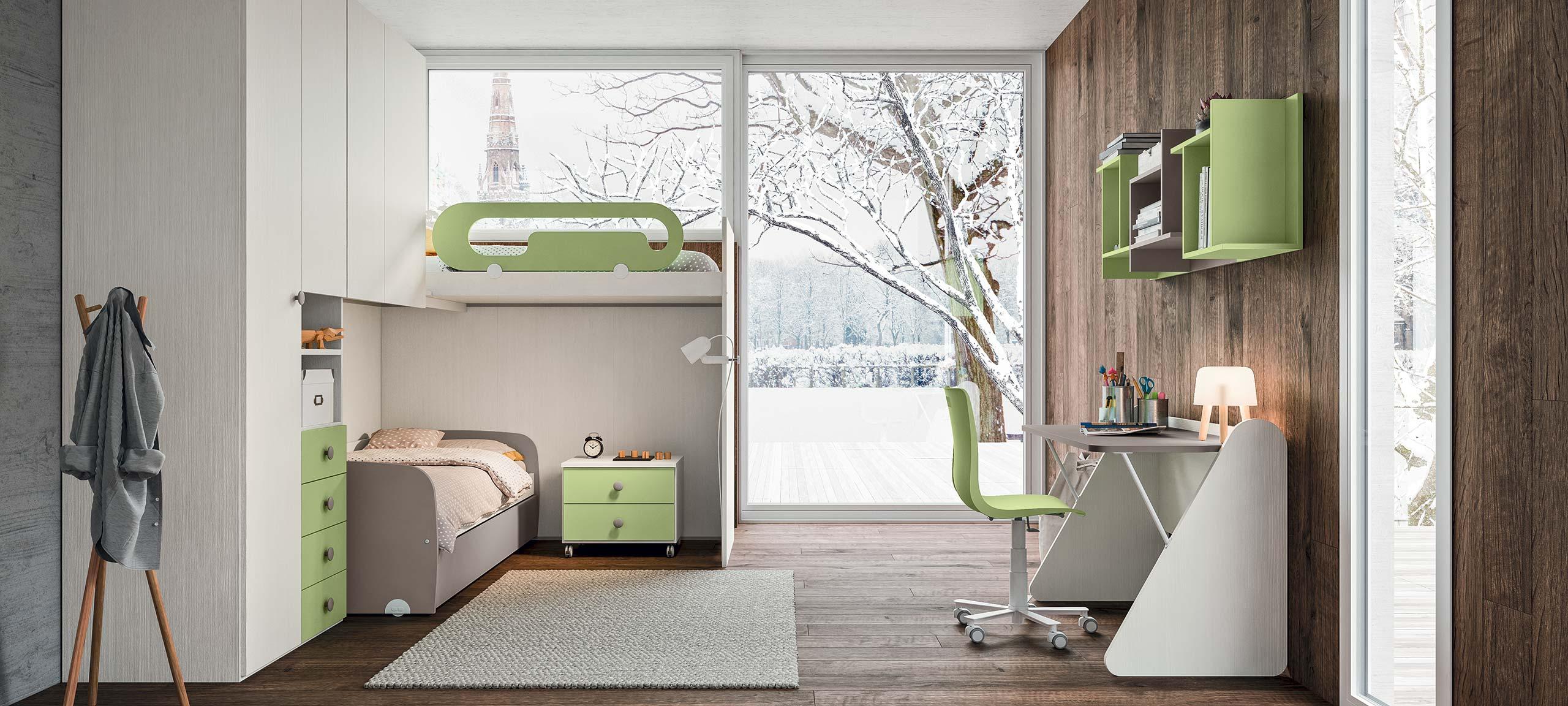 Soluzioni Camerette Con Tre Letti camerette con letti a soppalco | mab home furniture