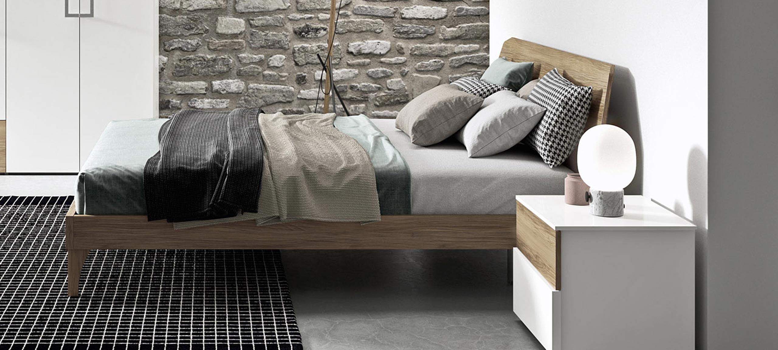 Letto Matrimoniale Minimal.Coloniale Letto Matrimoniale Minimal In Legno Mab Home Furniture