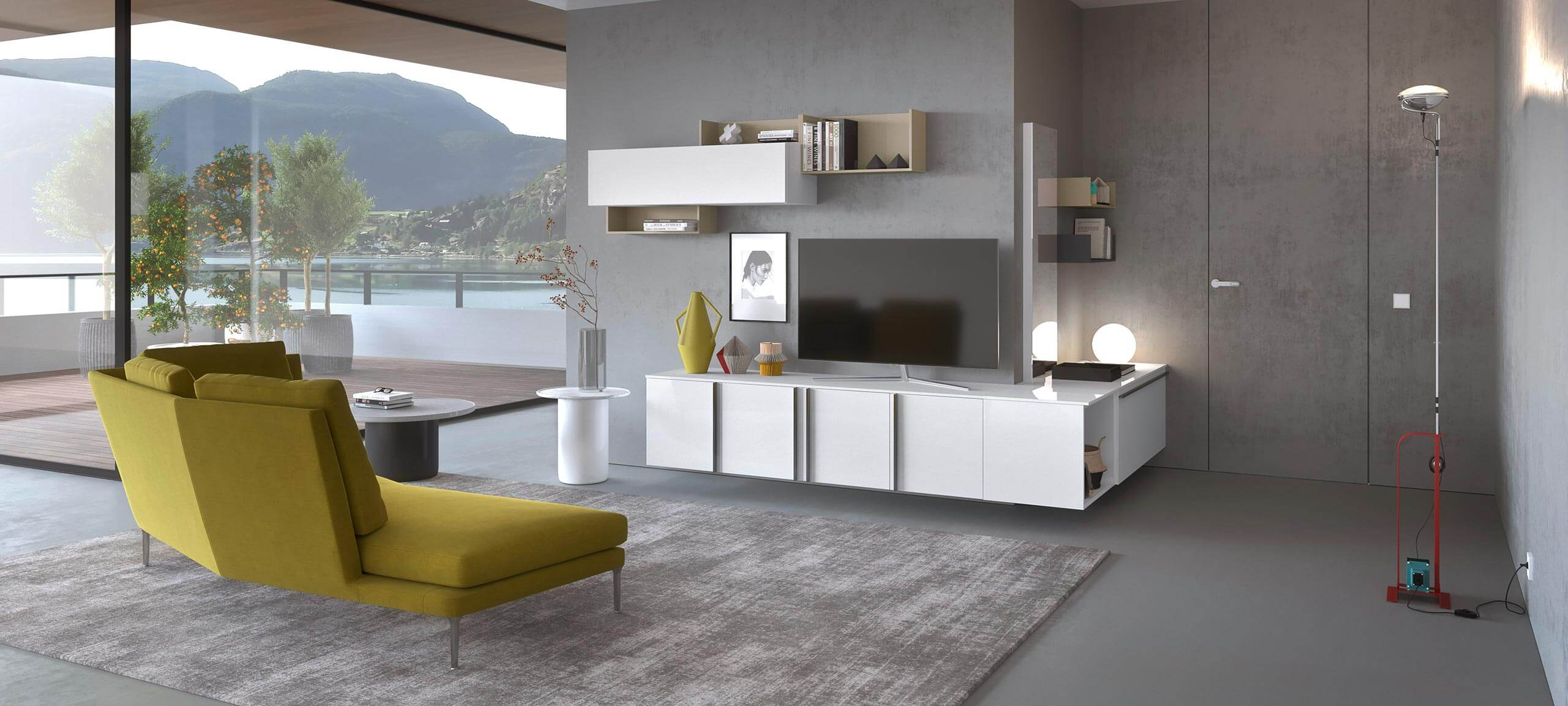 contemporary style TV storage wall for your living room 3