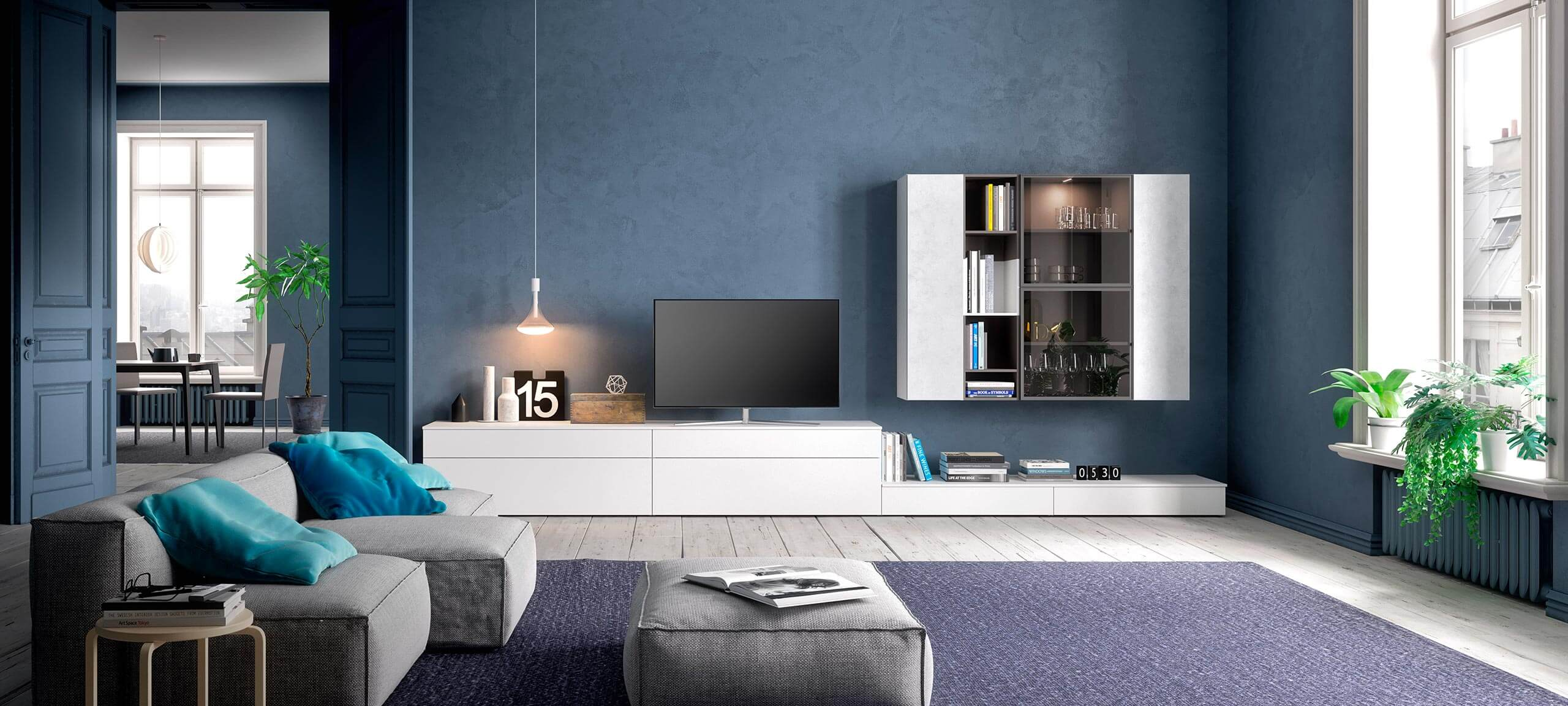 contemporary style TV storage wall for your living room 5