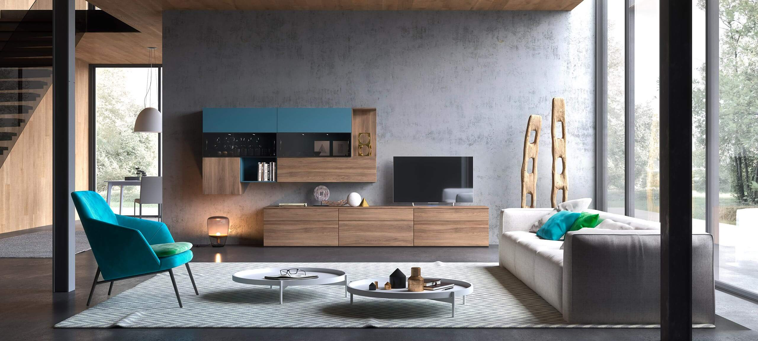 contemporary style TV storage wall for your living room 7