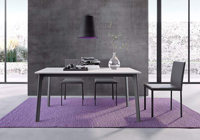 modern, extendable dining table