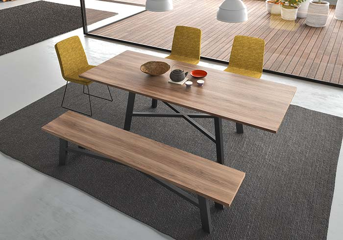 designer dining table benches chairs